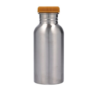 Botella acero inoxidable Tutete con funda Arcoiris mostaza, 500ml, personalizable