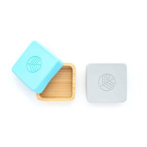 Caja Snack Eco Rascals, base de bambú, tapa de silicona