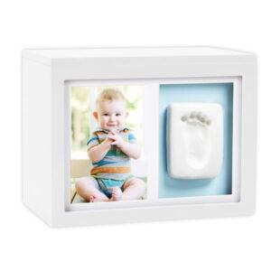 Caja de recuerdos Pearhead Babyprints, para huellas y fotos - Amatriuska