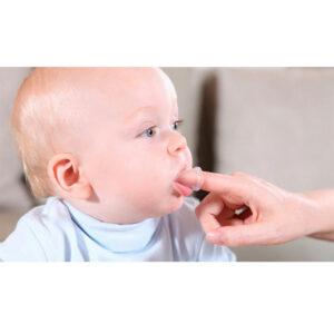 Cepillo dedal de silicona Jack N'Jill, entre 6 y 18 meses - Amatriuska