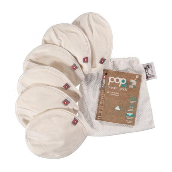 Discos de lactancia Pop In - lavables - transpirables - soja natural - Amatriuska