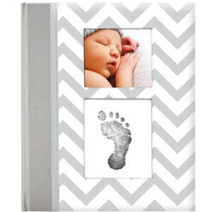 Libro bebé Pearhead, color gris, 50 páginas - Amatriuska