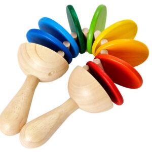 Sonajero de madera Clatter Plan Toys - Amatriuska
