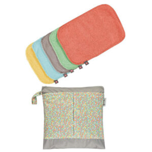 Toallitas multiusos Pop In, reutilizables, con bolsa impermeable - Amatriuska