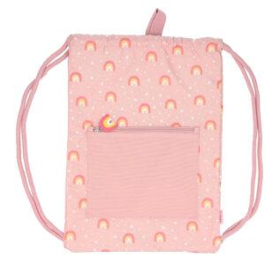 mochila-saco-arcoiris-rosa-impermeable-amatriuska